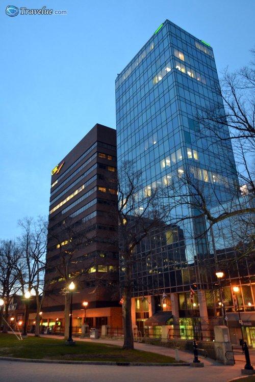 Downtown Halifax at night
