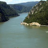 Danube gorge seen from Serbia