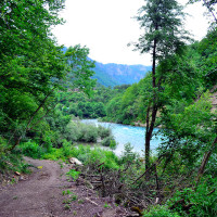 River Drina at Kamp Divlja Rijeka