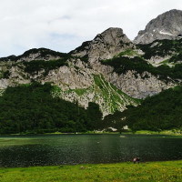 Overview of Trnovacko Lake in Montenegro