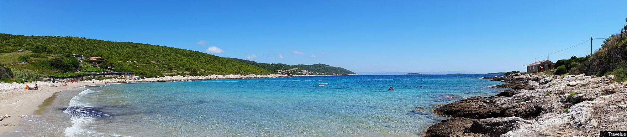 Zaglav beach panorama