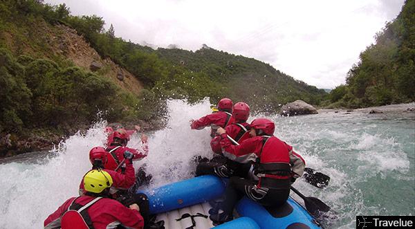 Big rapids on the last section of Tara