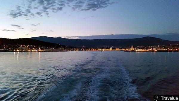 Split seen from ferry-boat to VIS island