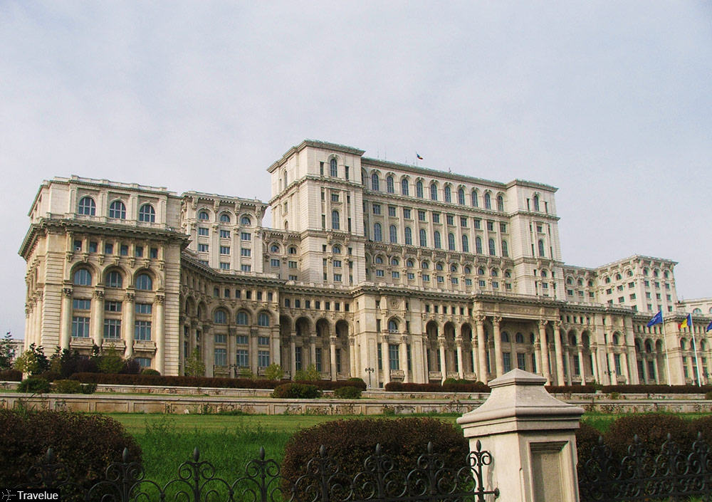 People's Palace in Bucharest now houses the Romanian Parliament
