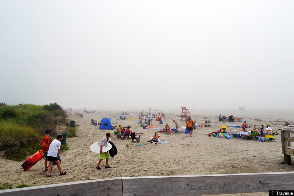 One moment it's foggy at the beach...
